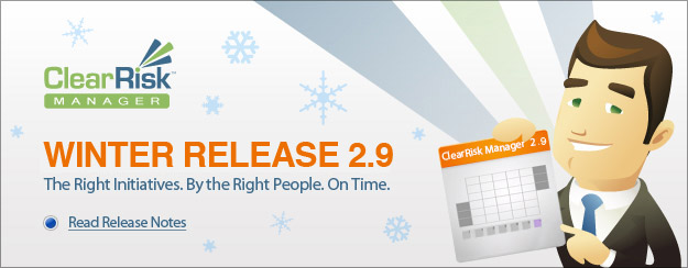 ClearRisk Winter Release 2.9 - Coming Winter 2012