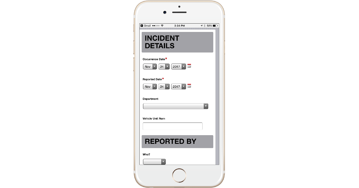 ClearRisk's Online Web Portal on an iPhone screen