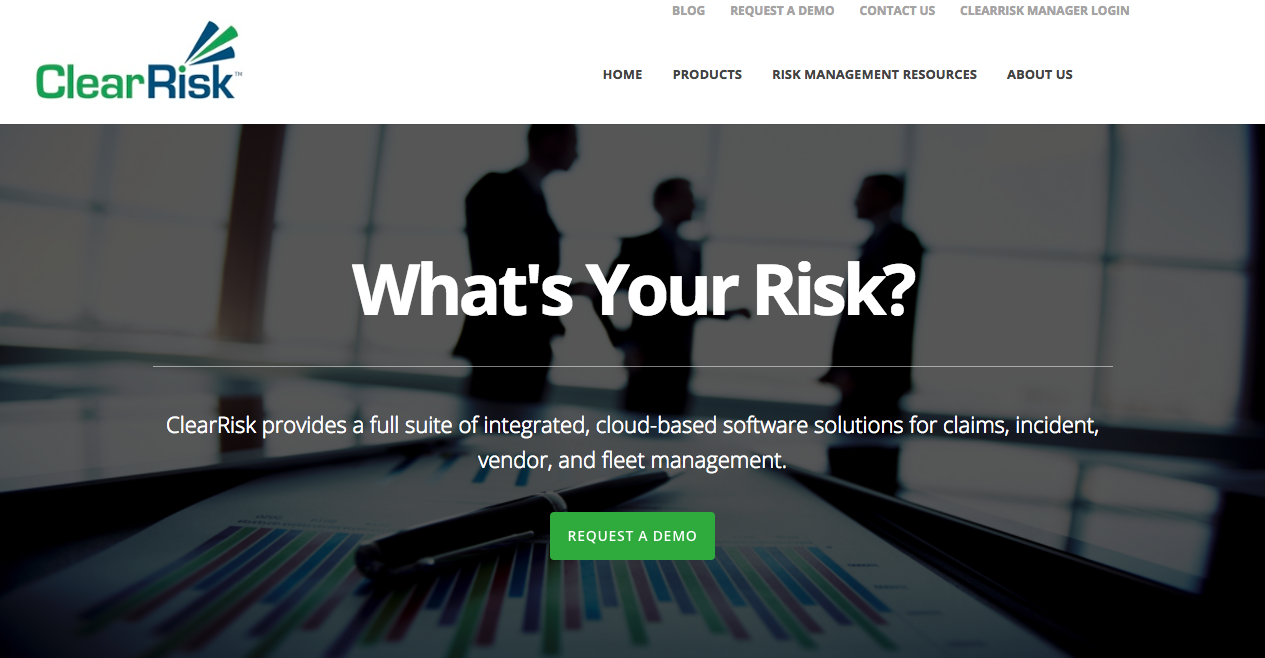 ClearRisk home page