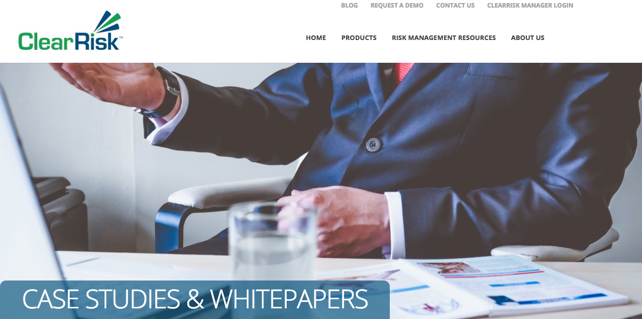ClearRisk case studies and whitepapers