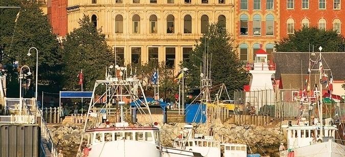 a ship dock in the City of Saint John