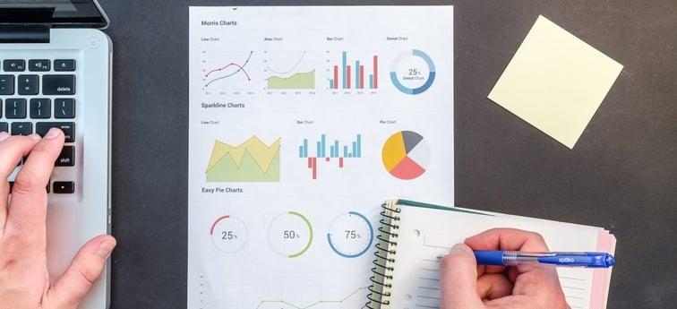 entering data onto a notebook