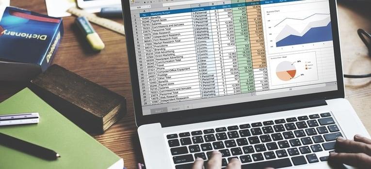 entering data into a spreadsheet